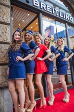 Hostessen for der Breitling-Boutique