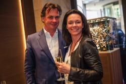 Der Geschäftsführer von Breitling Deutschland, Martin Trautmann mit seiner Frau Annette.