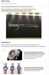 Screenshot Landingpage SIHH