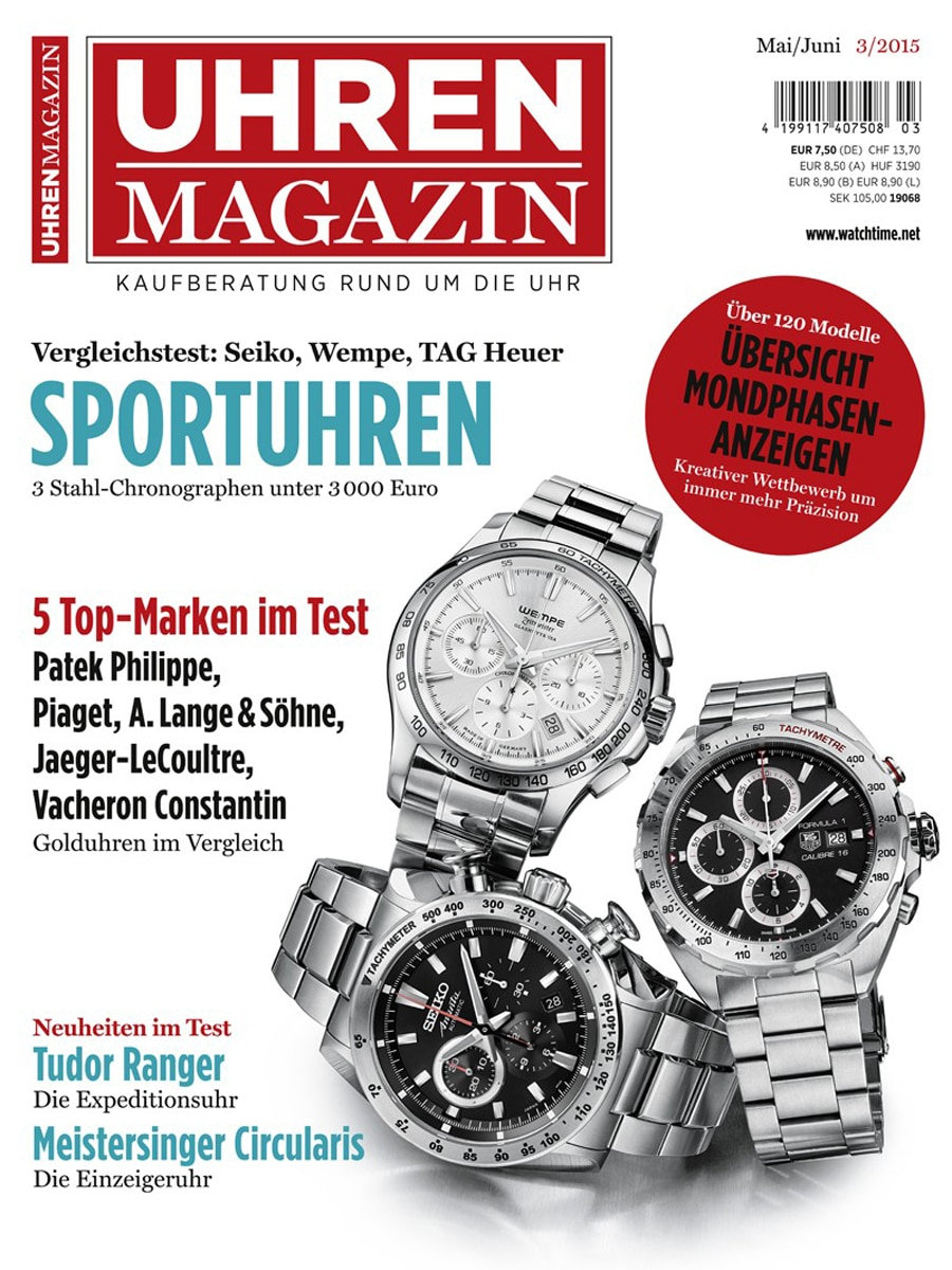UHREN-MAGAZIN 3/2015: Die Zeitschrift ist im dritten Folgequartal im Aufwärtstrend.