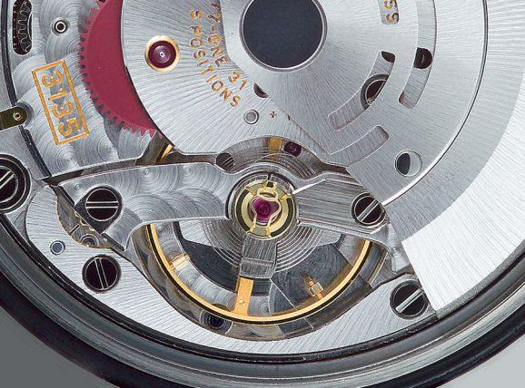 Rolex verwendet »Microstella«-Schrauben zur Veränderung des Trägheitsmoments der Unruh.