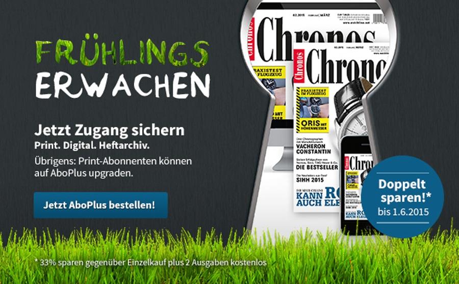 AboPlus: Frühlingsaktion Chronos