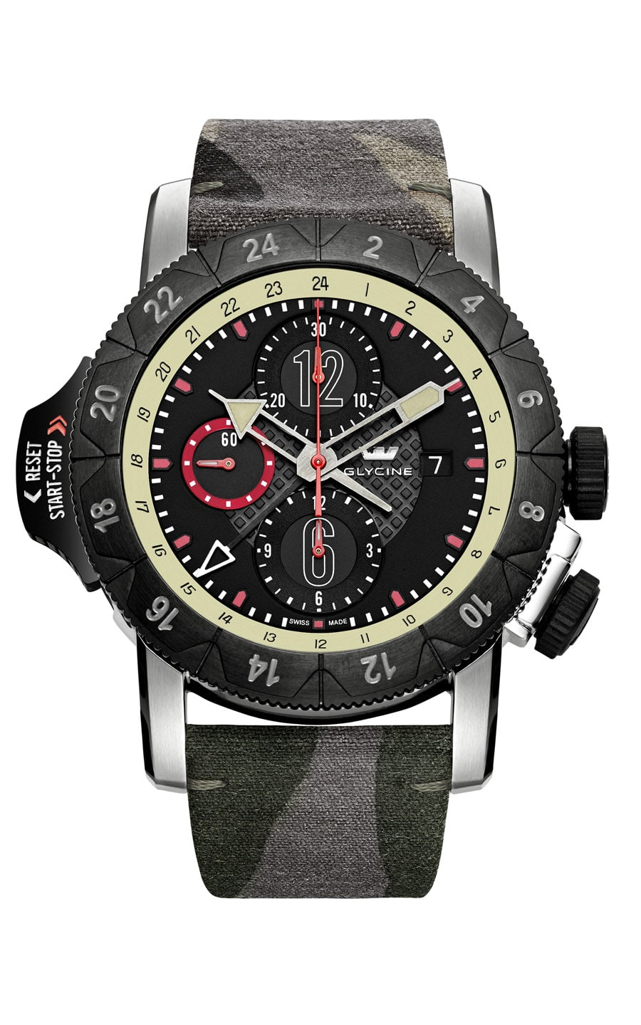 Glycine: Airman Airfighter mit Camouflage-Band