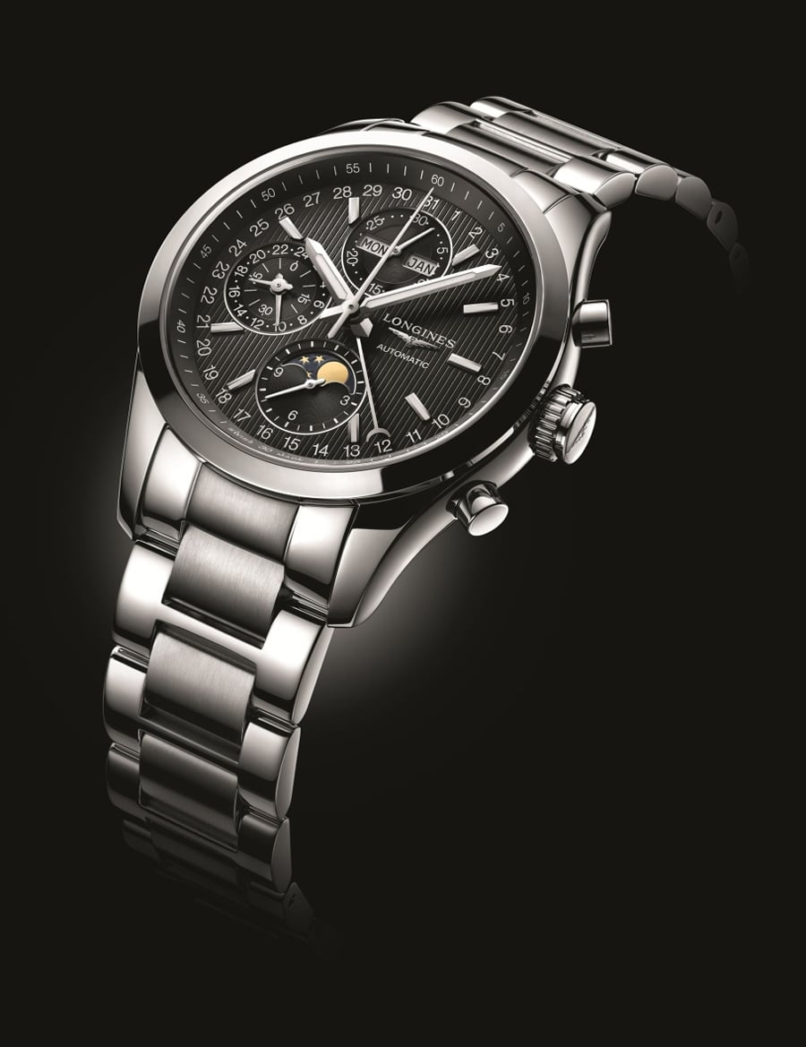 Longines: Conquest Classic Moonphase, Edelstahl