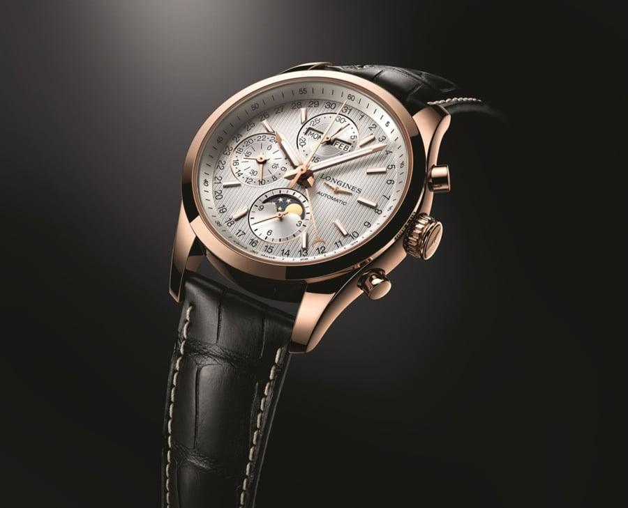 Longines: Conquest Classic Moonphase, Roségold