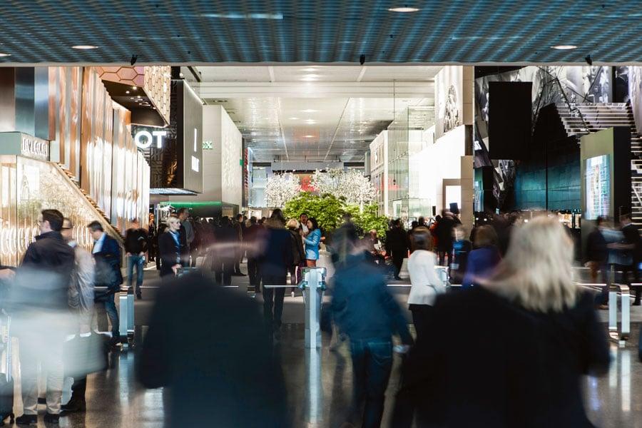 Impression vom Messebetrieb auf der Baselworld 2015