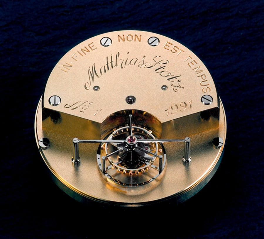 Dieses Tourbillon war das Gesellenstück von Matthias Stotz und legte den Grundstein für seine Karriere.