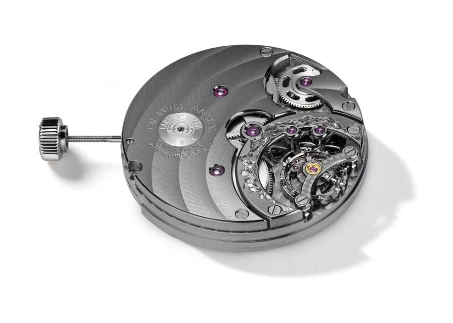 Erstes eigenes Kaliber von Armin Strom:  Das Handaufzugswerk ARM 09 mit Handgravur und einer Woche Gangautonomie