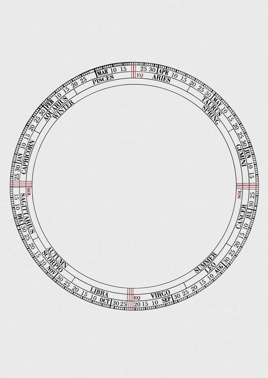 Vacheron Constantin: Jahreszeitenkalender, der aus drei konzentrischen Ringen besteht.