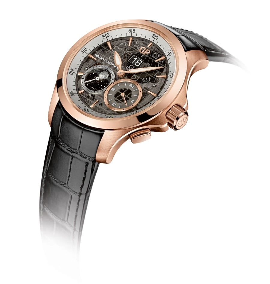 Girard-Perregaux: Traveller Large Date, Moon Phases & GMT in Roségold