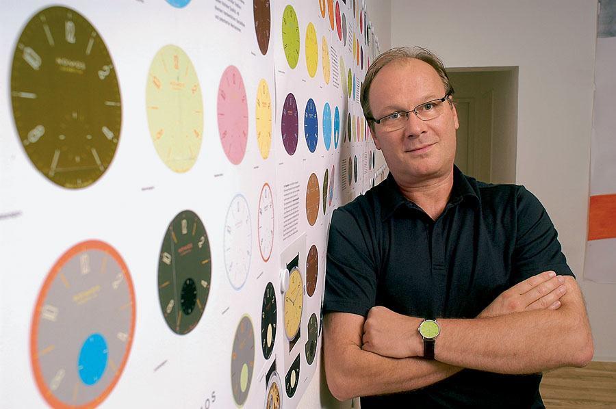 Firmengründer von Nomos Glashütte, Roland Schwertner, agiert nur noch im Hintergrund.