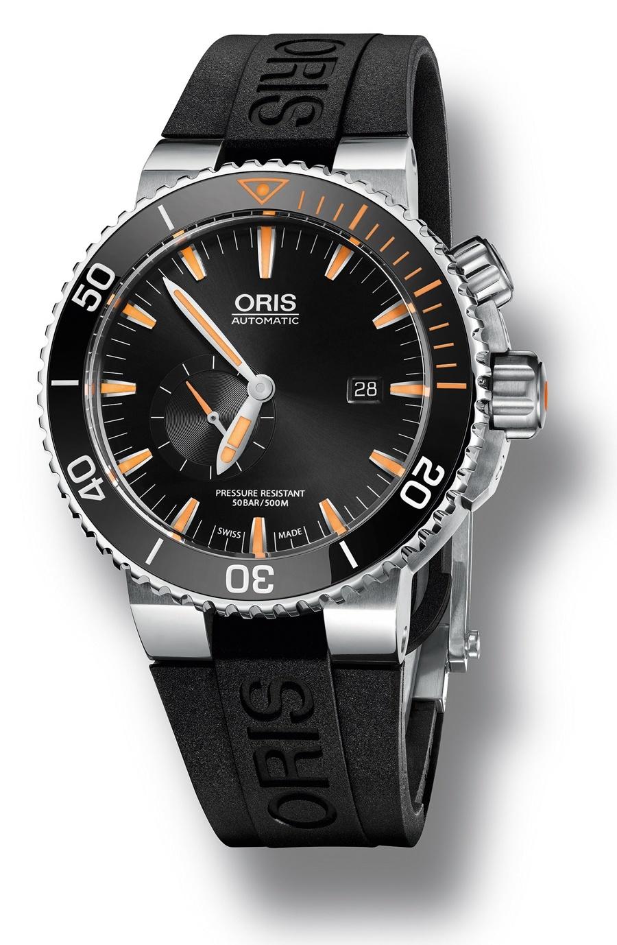 …und auch am Titanband: Oris Carlos Coste Limited Edition IV