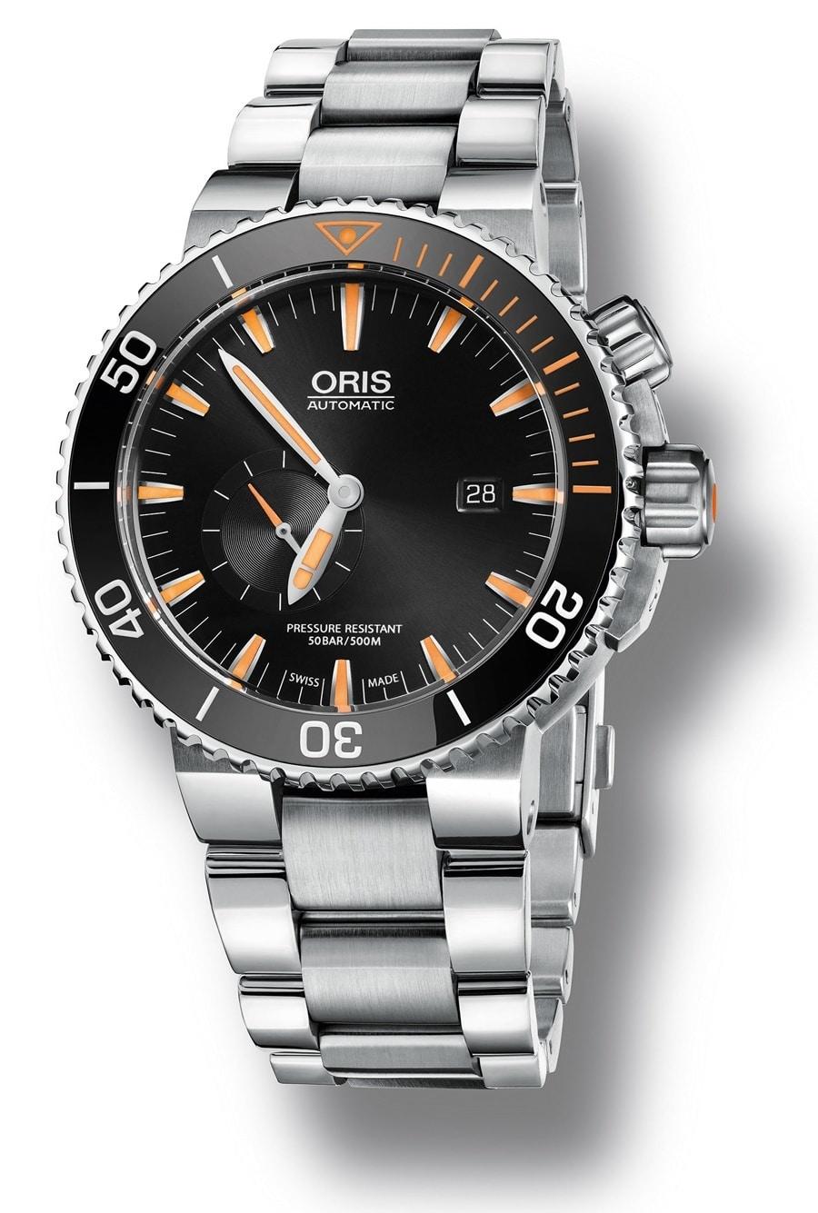 Die Oris Carlos Coste Limited Edition IV gibt es am Titanband...
