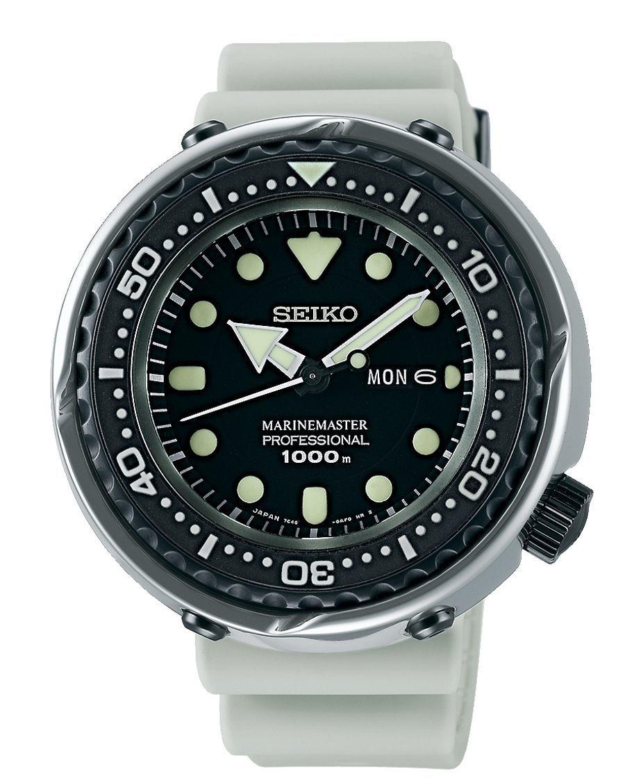 Die neue Generation von Seiko Marinemaster Modellen spiegelt Seikos professionelle Einstellung zum Thema Taucheruhren wider.
