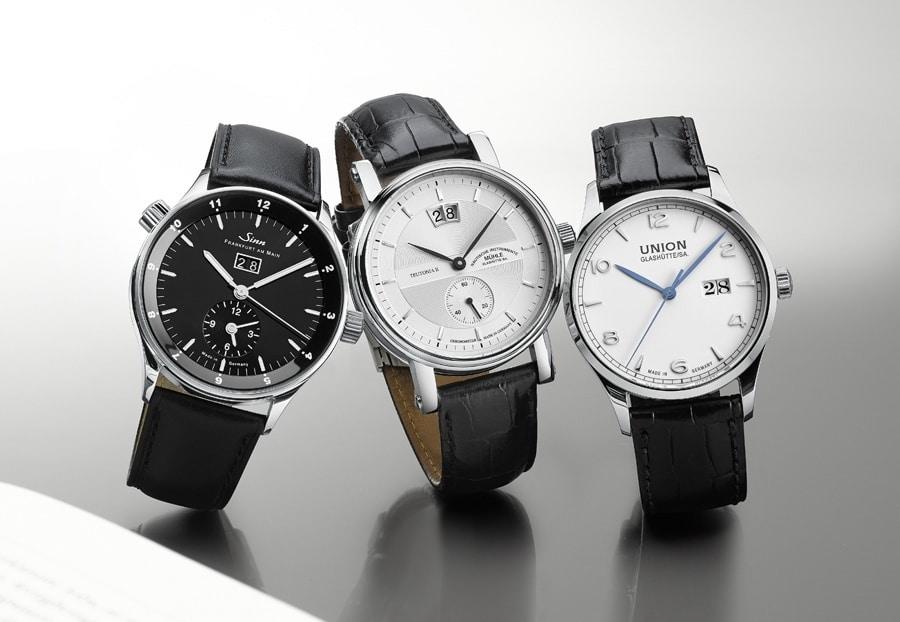 Uhren mit Großdatum von Mühle-Glashütte, Sinn Spezialuhren, Union Glashütte im Test