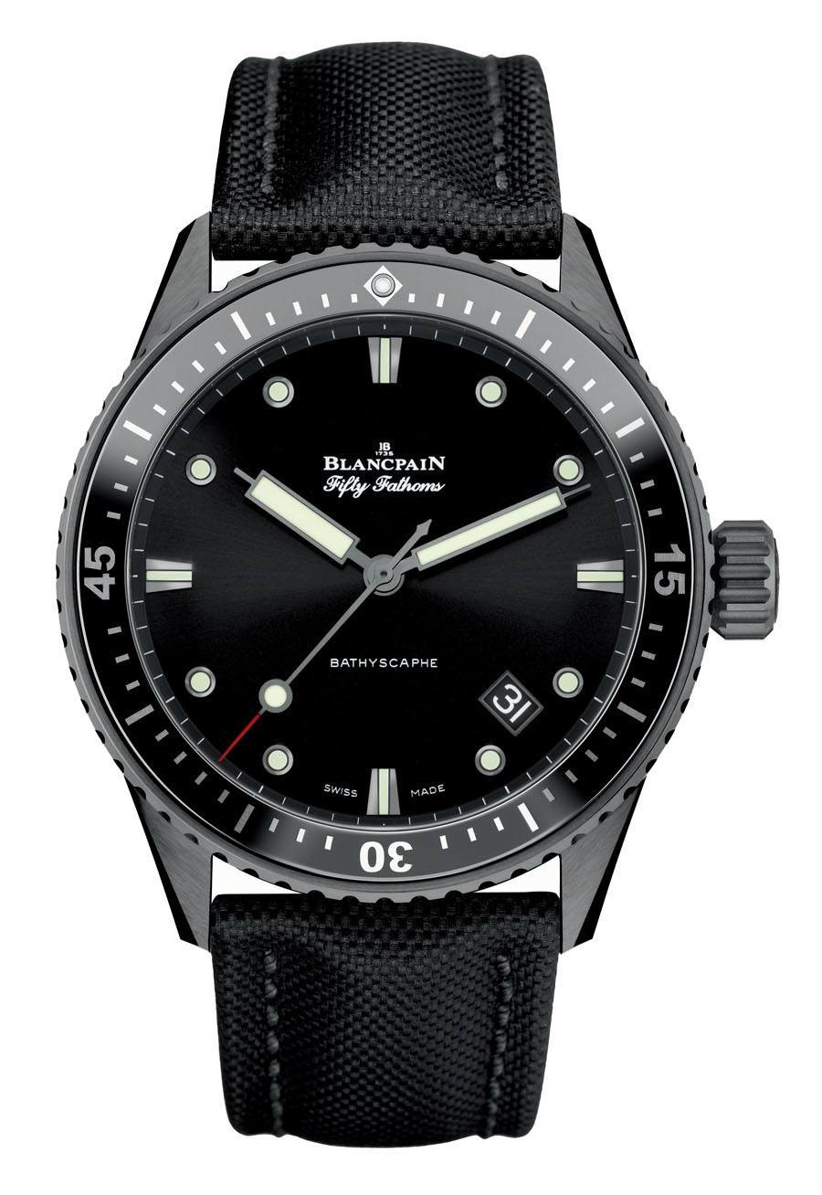 Taucheruhr 2015: Blancpain Fifty Fathoms Bathyscaphe Keramik
