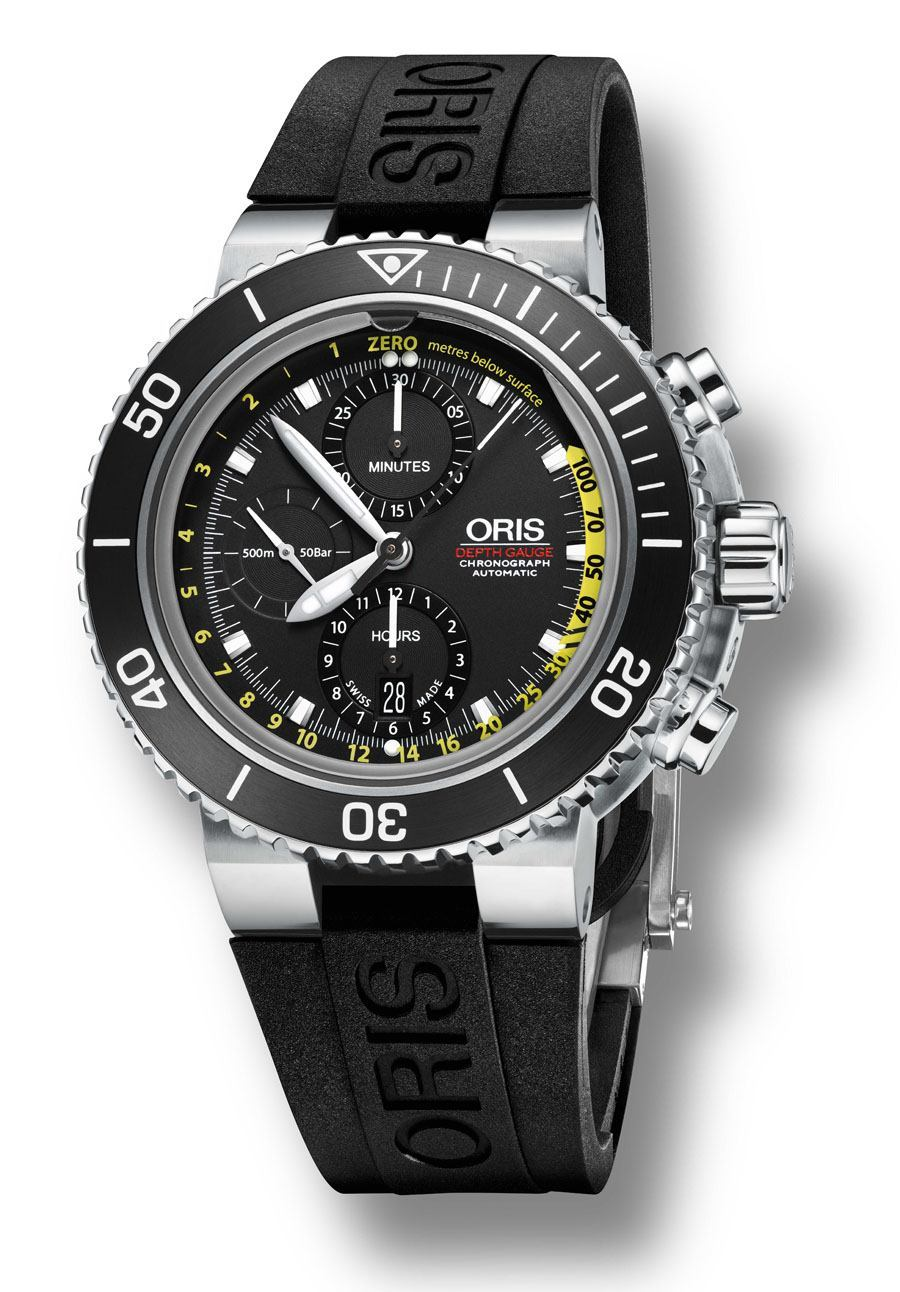 Taucheruhr 2015: Oris Aquis Depth Gauge Chronograph