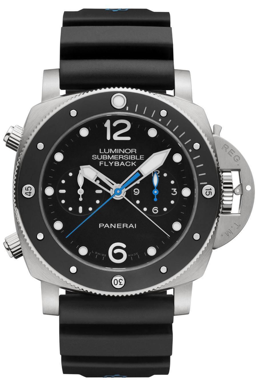 Panerai: Luminor Submersible 1950 3 Days Chrono Flyback Automatic Titanio