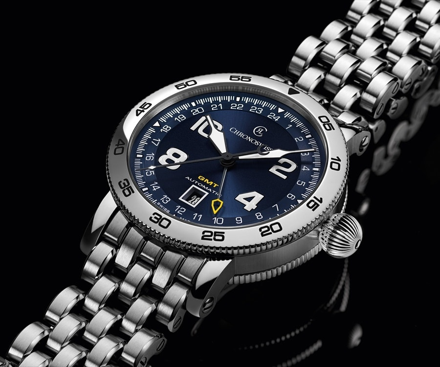 Chronoswiss: Timemaster GMT, blaues Zifferblatt