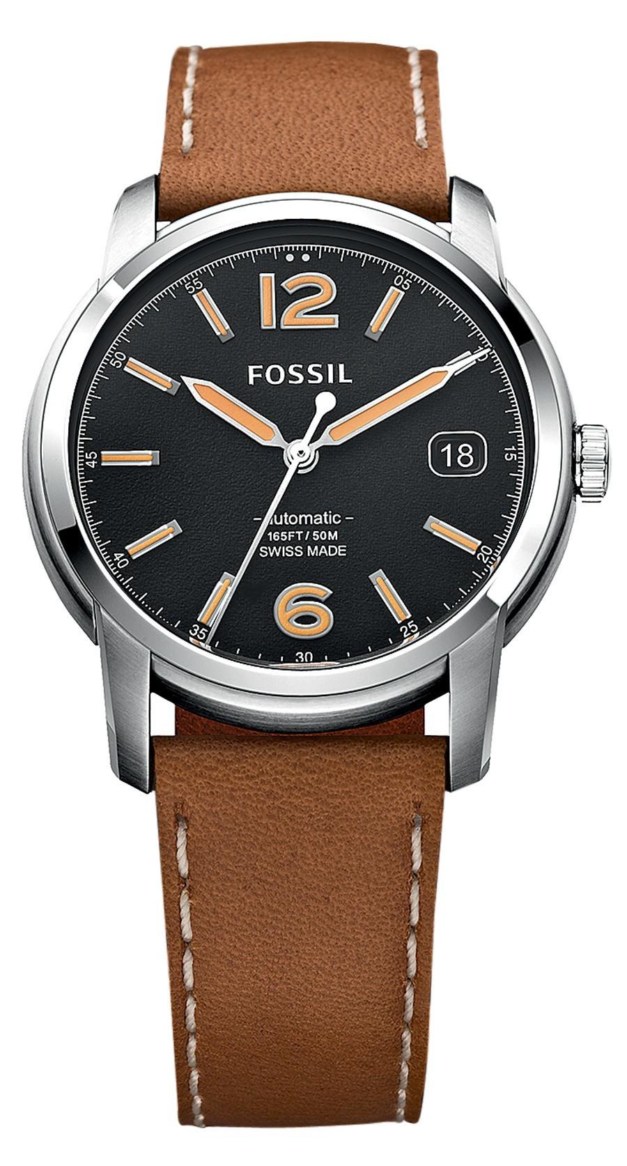 Auch bei Fossil gibt es eine Swiss-Made-Familie mit eigenen Uhrwerken.