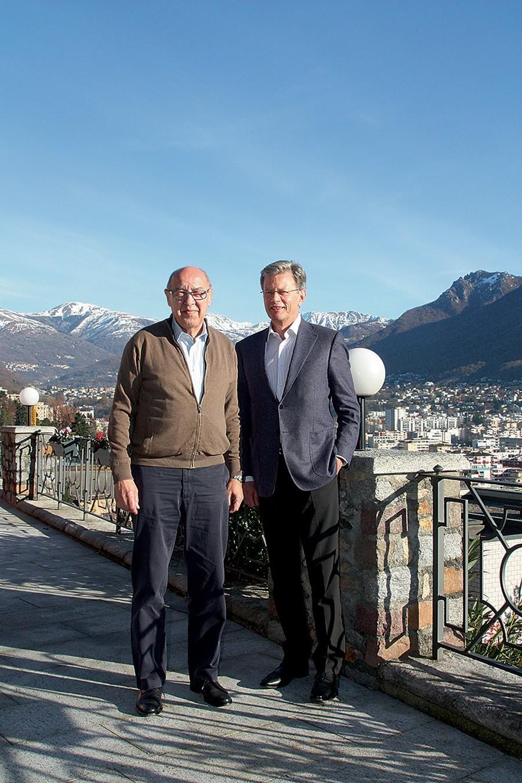 Hans Ulrich Sauerer, CEO von STP (links), und Martin Frey, Geschäftsführer von Fossil Europa
