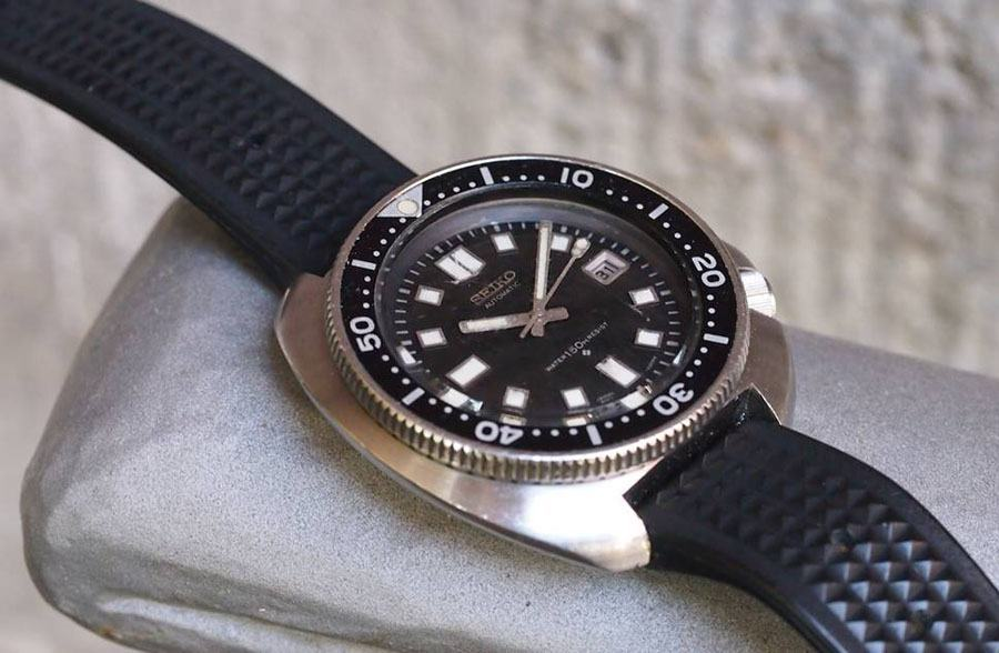Vintage-Uhr von Seiko: Die Referenz 6105-8110 (Foto: Michael Stockton)