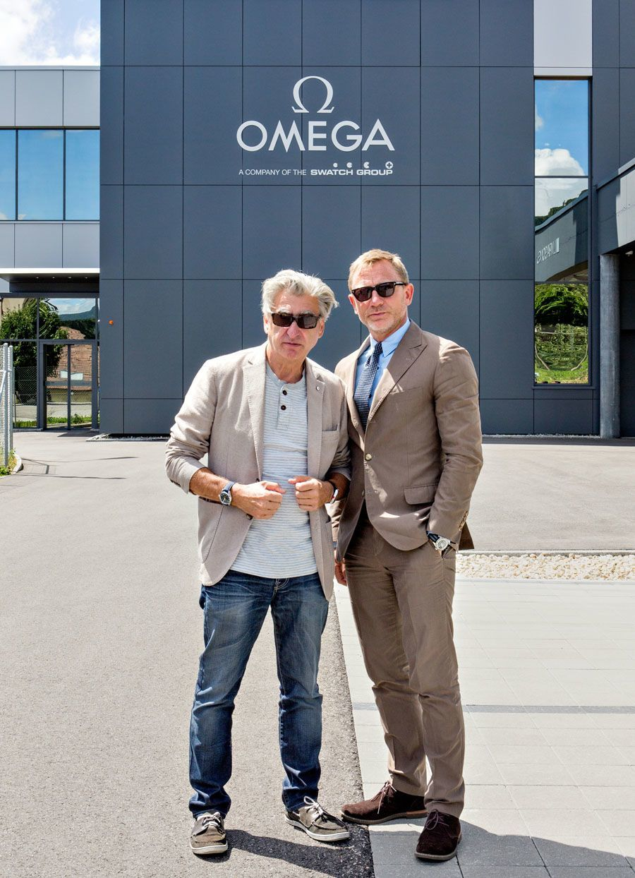 Daniel Craig alias James Bond mit Swatch-Group-Chef Nick Hayek