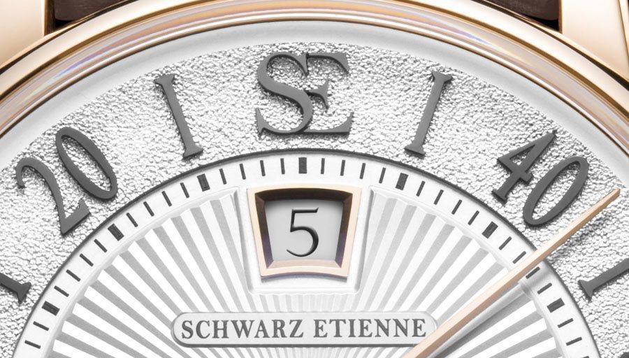 Springende Stunde und retrograde Minutenanzeige des Tourbillon Jumping Hours Classic von Schwarz Etienne