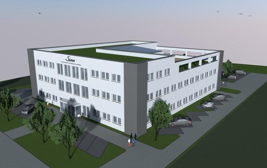 3D-Skizze des zukünftigen Firmensitzes von Sinn Spezialuhren