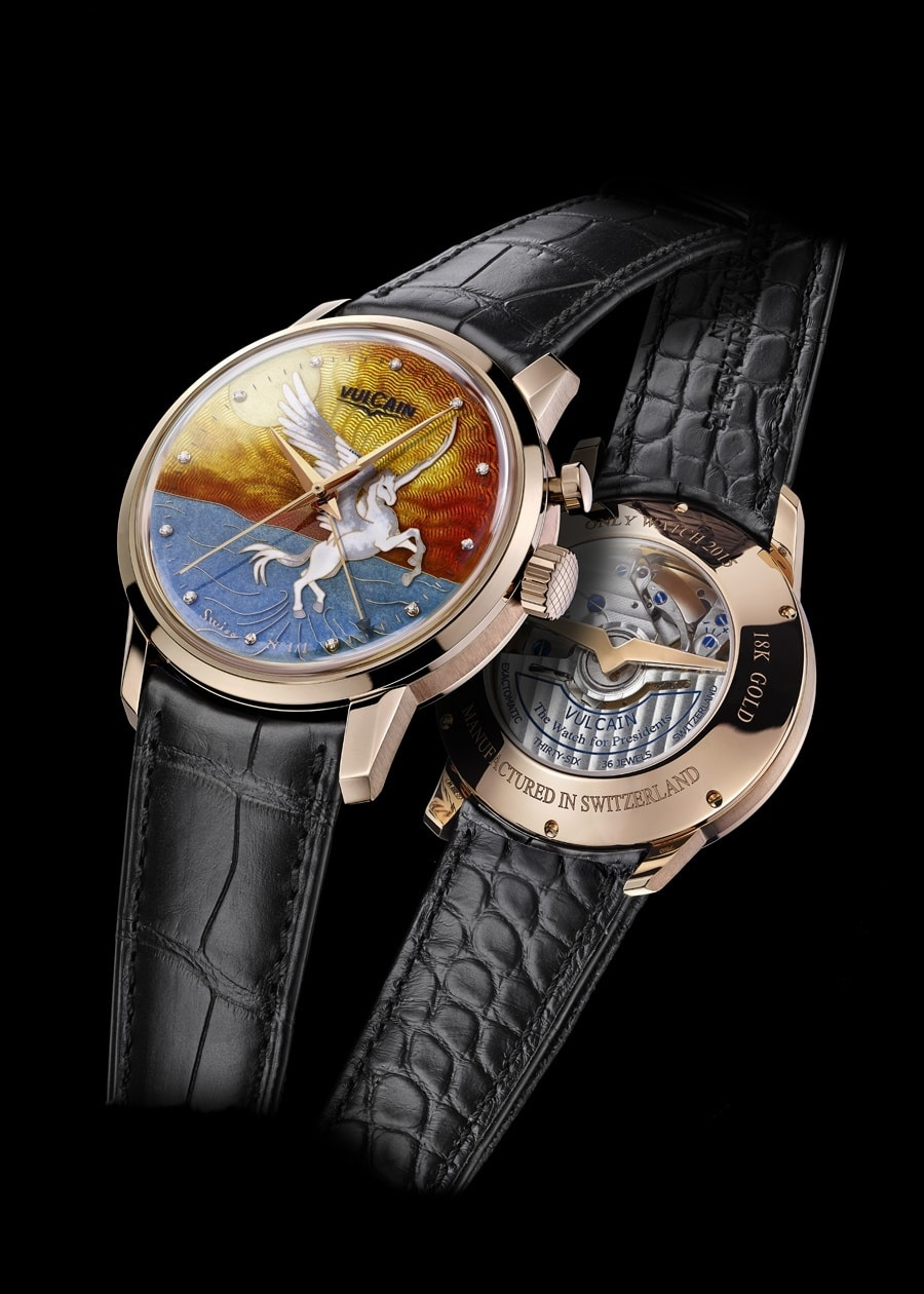 "Vulcain: 50s President's Cloisonné Grand Feu ""Only Watch Pegasus"""