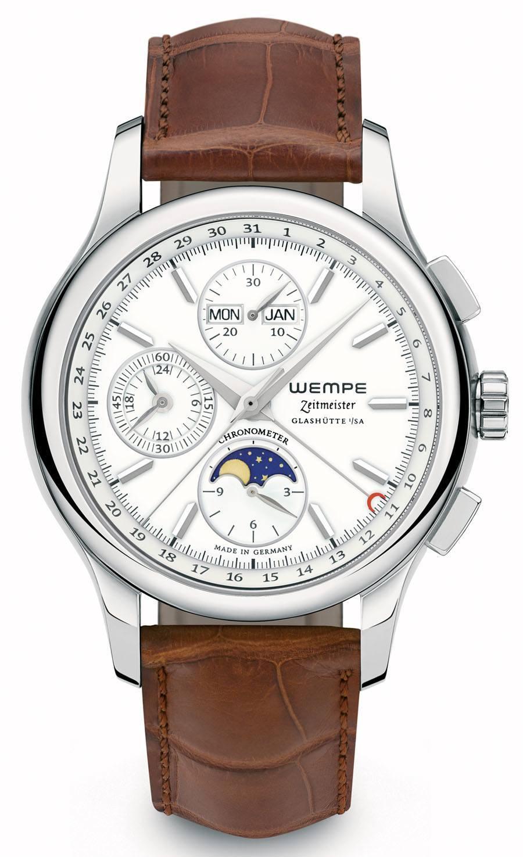 Wempe Glashütte Zeitmeister Chronograph mit Mondphase und Vollkalender