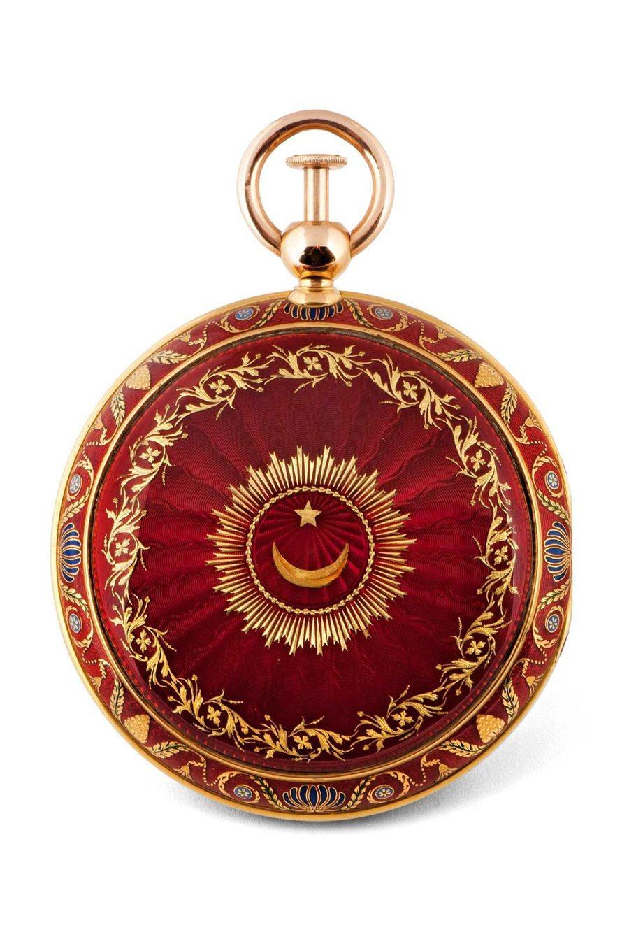 Gehäuserückseite der türkischen Uhr mit Viertelstundenrepetition Breguet Nr. 2090