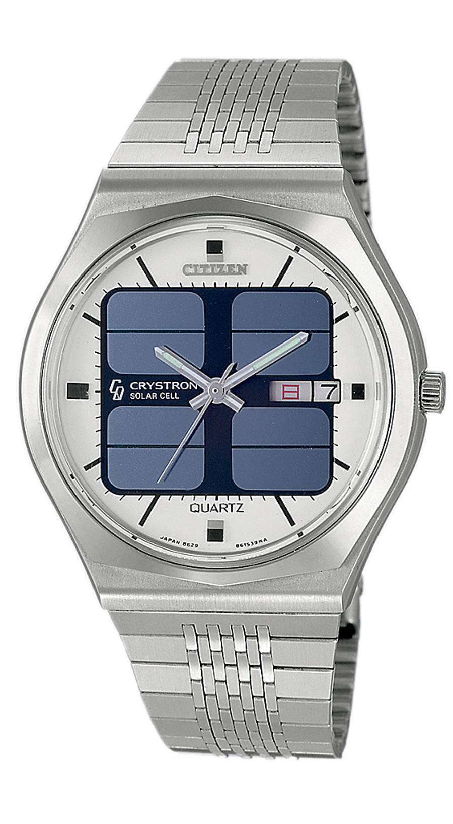 Die Citizen Crystron Solar Cell war 1976 die erste Uhr mit Solarzellen-Batterien