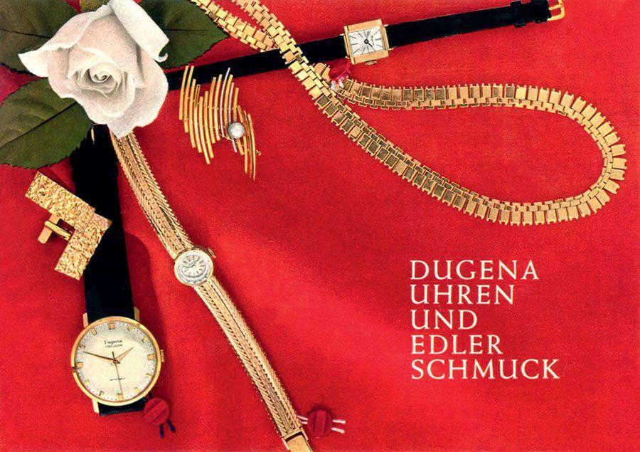 Passend zur Dugena-Uhr wurde einst auch Schmuck lanciert