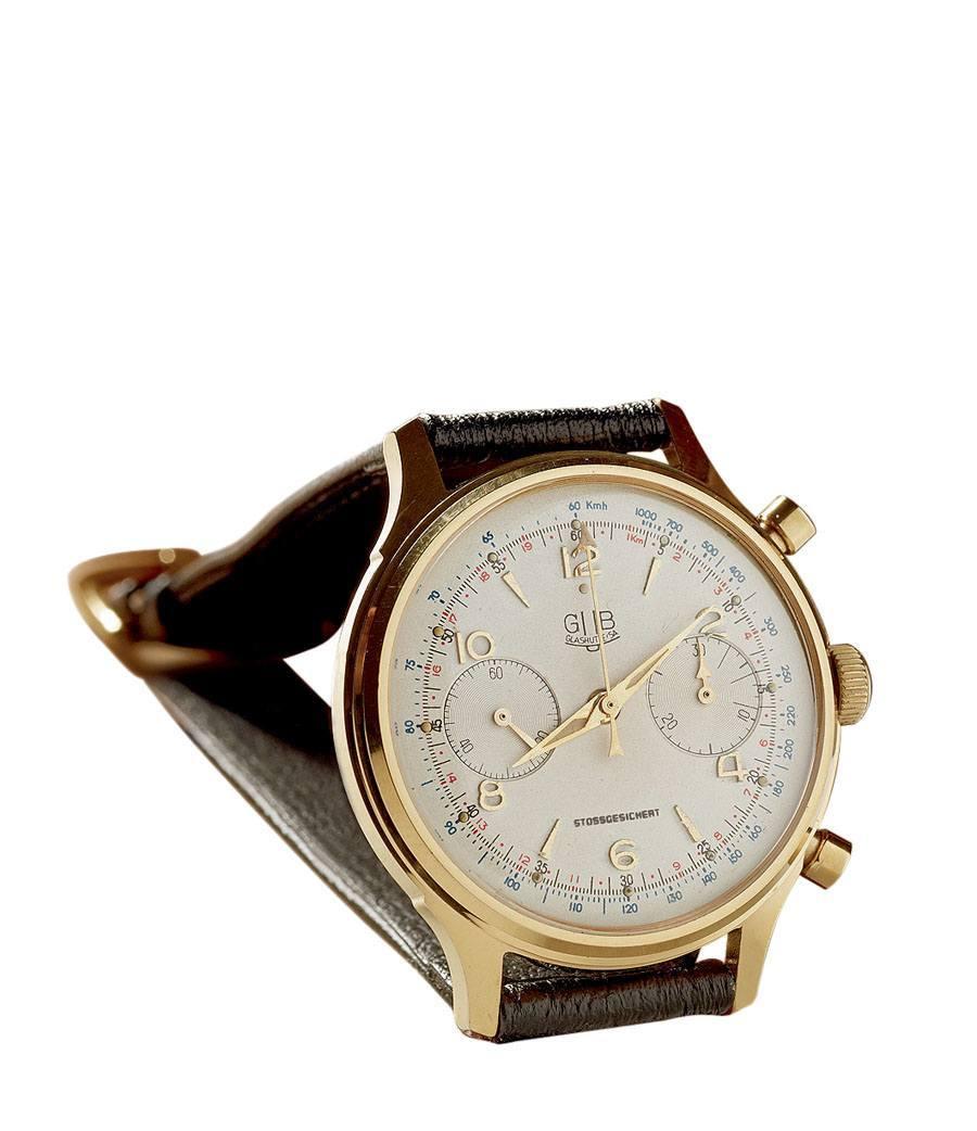 Glashütte Original: Uhr mit Chronographenkaliber 64, 1955