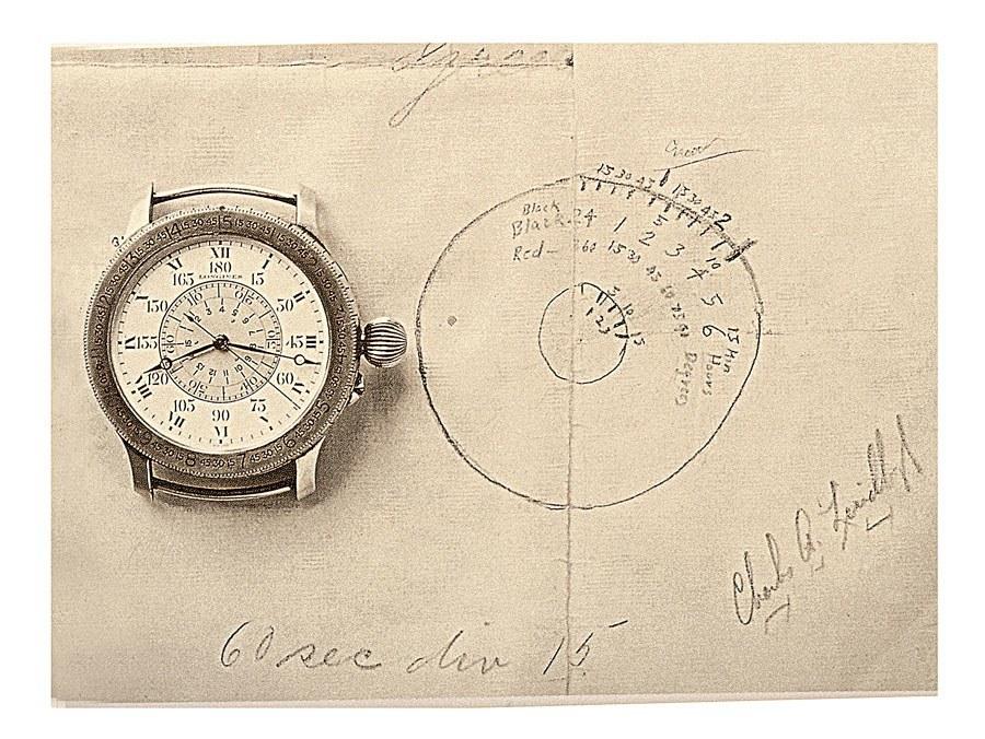 Longines: Stundenwinkeluhr nach einer Zeichnung von Charles A. Lindbergh