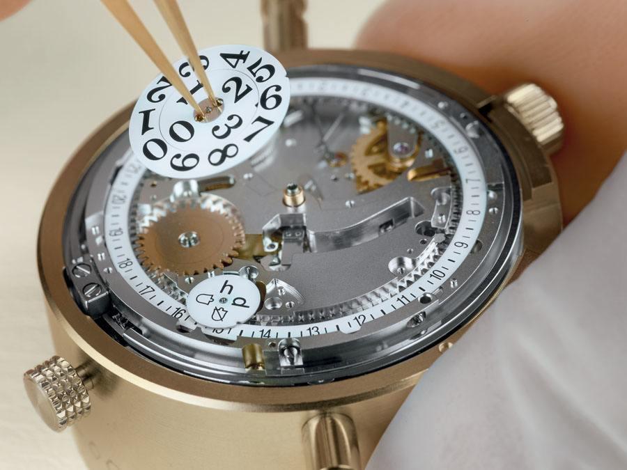 Beispiel für eine Uhr mir Großdatum: Glashütte Original