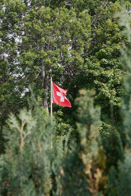 Leserreise Schweiz 2015: Schweizer Flagge