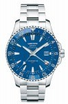 Der offiziell nach DIN 8319 geprüfte deutsche Chronometer ist auch in Marineblau erhältlich.