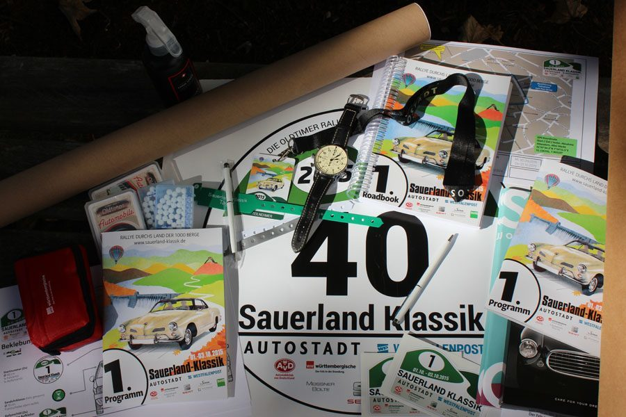 Oldtimer-Rallye, 1. Sauerland Klassik: Startunterlagen