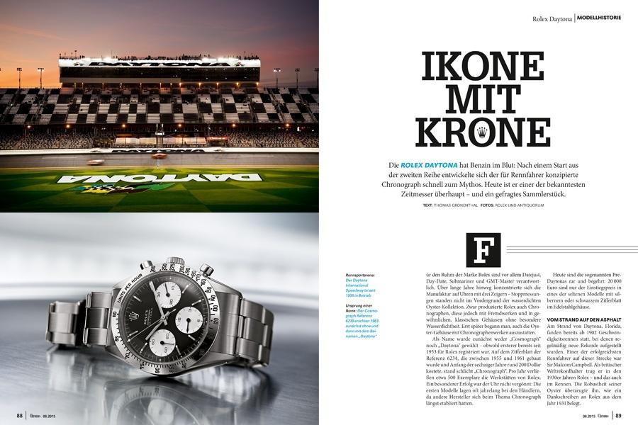 Geschichte der Rolex Daytona Chronos 06.2015