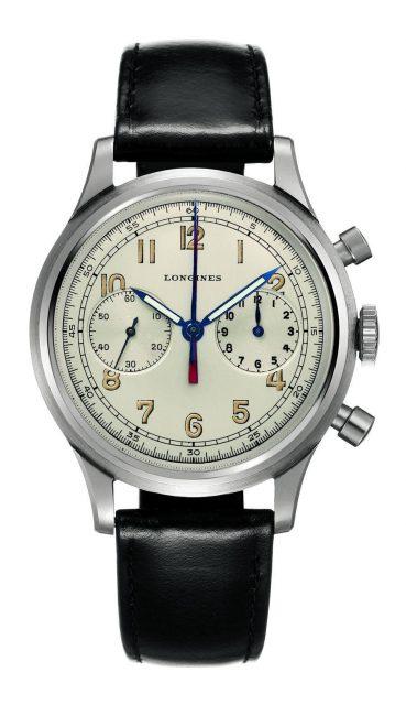 Mit dieser Uhr lässt sich Longines 1936 die Entwicklung des Flyback-Chronographen patentieren.