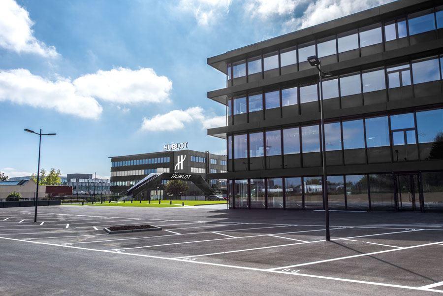 Das neue Hublot-Manufakturgebäude in Nyon bei Genf