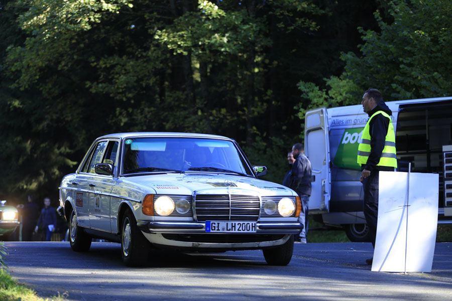Oldtimer-Rallye, 1. Sauerland Klassik: Jede Wertungsprüfung ist eine Herausforderung. Foto: Devin Sancakli