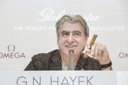 Unverzichtbar für Swatch-Group-Chef Nick Hayek: die Zigarre