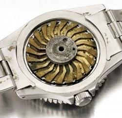 Über Druckluft, die über den Gehäuseboden in die Uhr gelangte, konnte sich die Lünette wie eine Kreissäge drehen. Foto: Christie's