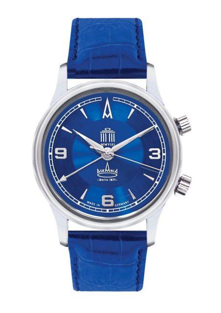 In der Quadriga 2008 der Berliner Uhrenmarke Askania tickt das Adolph-Schild-Kaliber 1475. Kostenpunkt: 4.595 Euro
