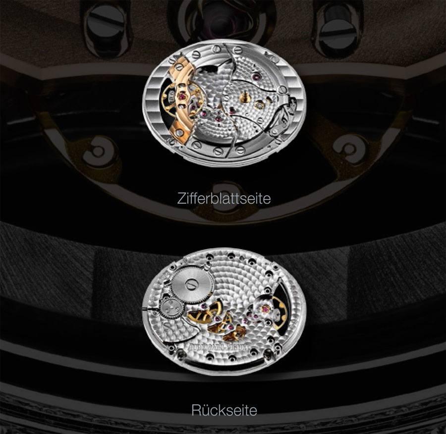 In der Millenary von Audemars Piguet tickt das Manufaktur-Uhrwerk 5201 mit Handaufzug