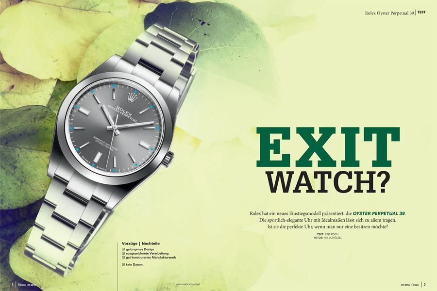 Rolex Oyster Perpetual 39 im Chronos-Test