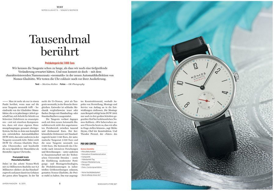 Download: Einzeltest Nomos Tangente Neomatik